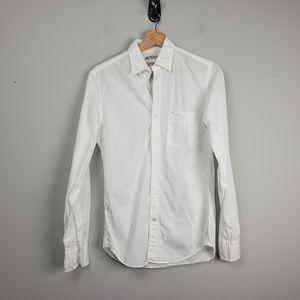 J. Crew Thomas Mason Mens Shirt Size XS White Top